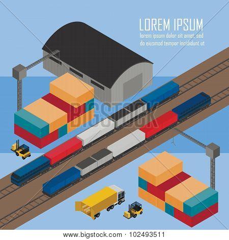 Warehouse management at railway depots.