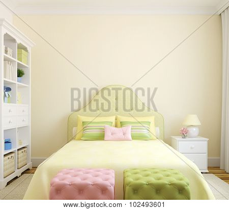 Interior Of Bedroom.