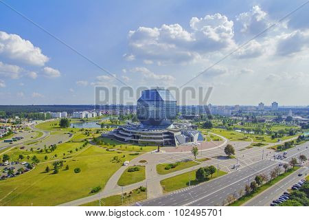 National Library Of Belarus In Minsk top view