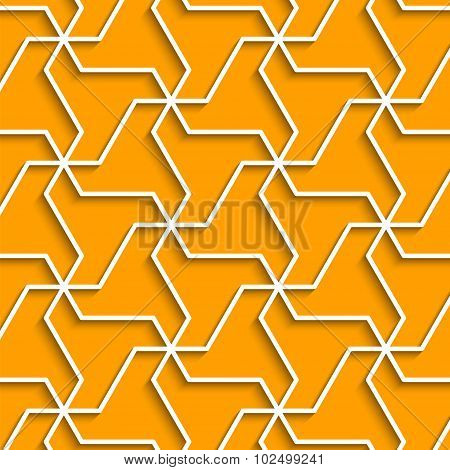 Geometric Yellow Background With Outline Extrude Effect