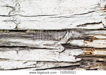 Old Chapped White Wooden Background