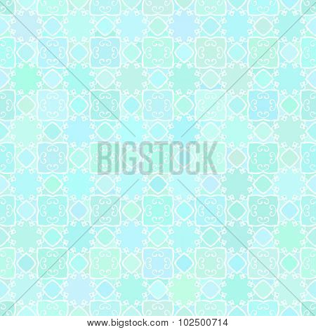 Abstract vector background Geometric Seamless pattern Aquamarine colors