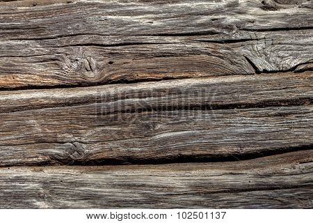 Old Weathered natural wooden texture background - more than 100 years old