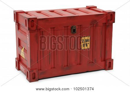 Red Freight Containers