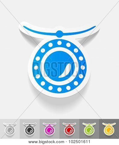 realistic design element. pendant