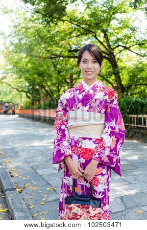 Young woman with Kimono in Gion Kyoto