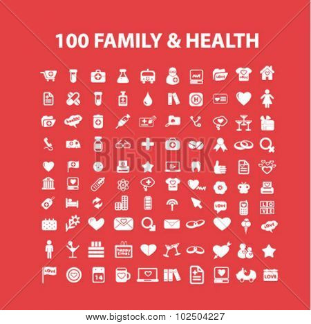 family, health care icons