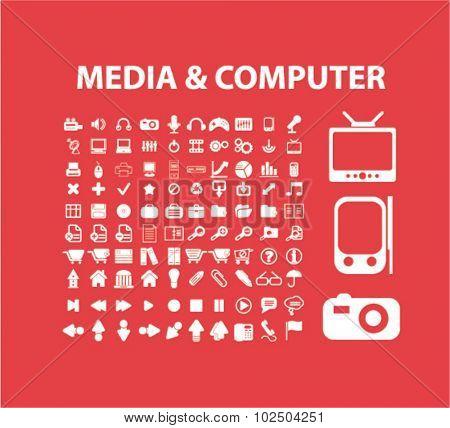 media, computer icons