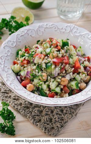 Bulgur Salad with Vegetables