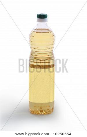 Bottle Of Vegetable Oil - Front