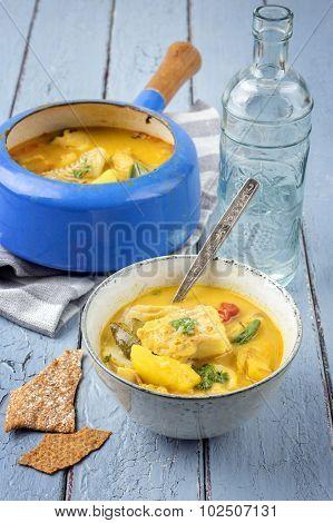 Fishsoup in Pot