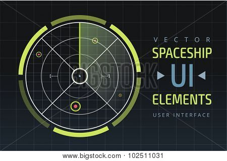 UI hud infographic interface web elements. Futuristic space thin HUD user interface. Web UI interface elements, UI elements, UI design, UI vector icons. Game target navigation interface hud ui design
