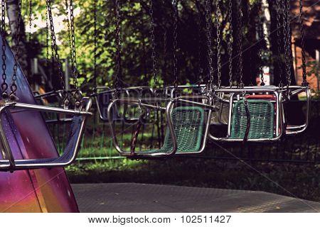Vacant Merry-go-round Seats.