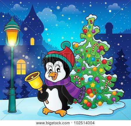 Christmas penguin topic image 4 - eps10 vector illustration.