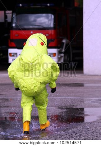 Man With Yellow Protective Gear