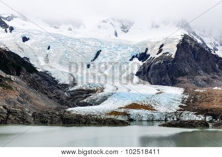 Glacier At Cerro Torre, El Chalten, Argentina