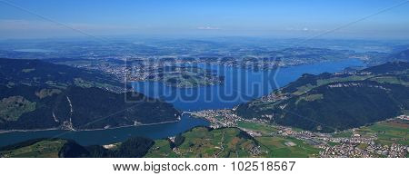 Lake Vierwaldstattersee And Surrounding Towns