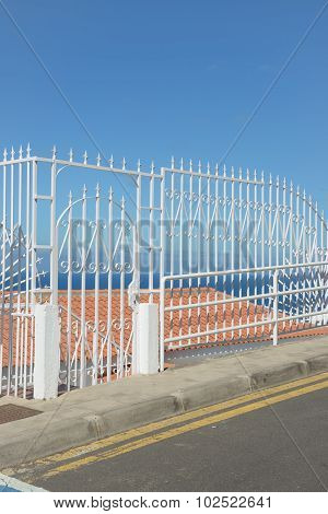 Decorative Fence Of Forged Metal In Los Gigantes, Tenerife, Spain.