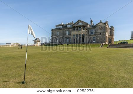 St Andrews links with the Royal and Ancient clubhouse
