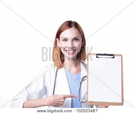 Young Doctor Woman Smile Show