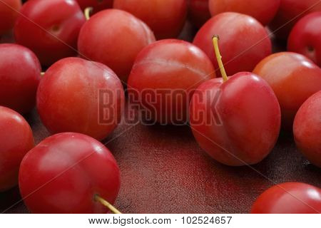 Red Mirabelle Plum Fruits