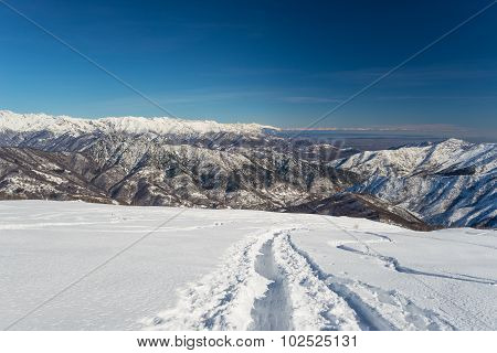 Mountaineering In Fresh Snow