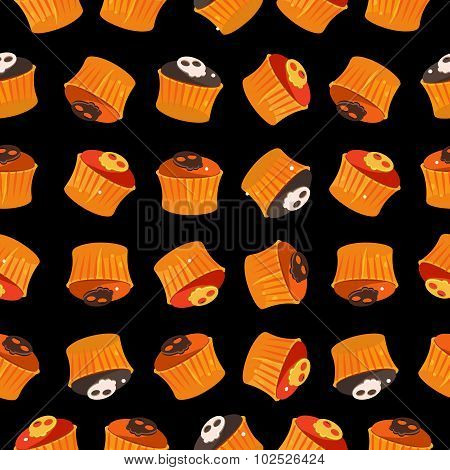 Seamless vector pattern with colorful candy. Candy for Halloween party