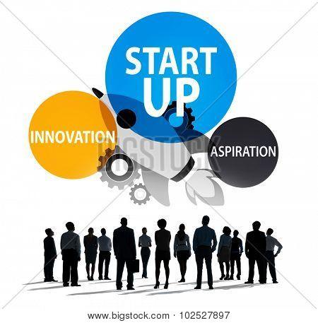 Startup Business Plan Innovation Aspiration  Concept
