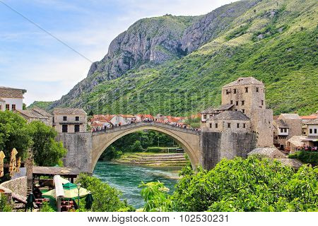 The Old Bridge (Stari Most), Mostar, Bosnia and Herzegovina