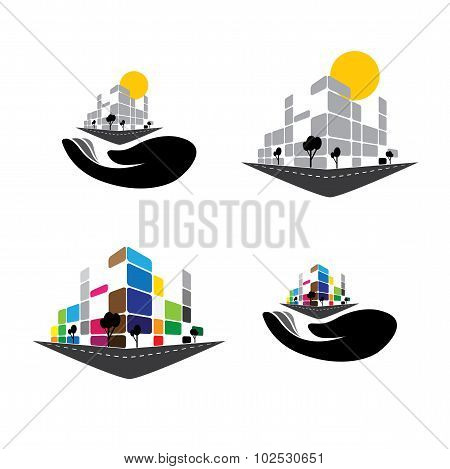 Vector Icon - Building Of Home Apartment,  Super Market Or Office Space