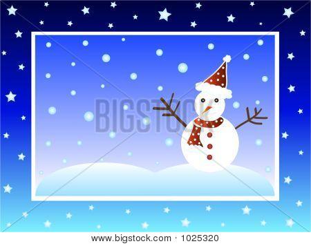 Weihnachten-Schneemann
