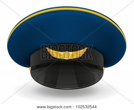 Professional Uniform Cap Or Pilot Vector Illustration