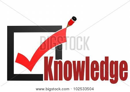 Check Mark With Knowledge Word