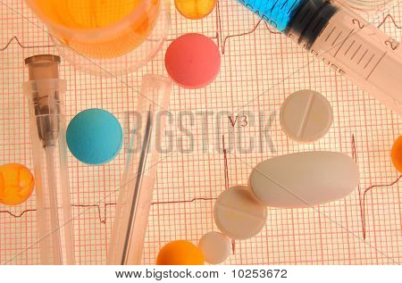 Medicines And An Electrocardiogram
