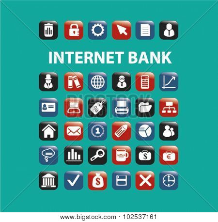 internet bank icons