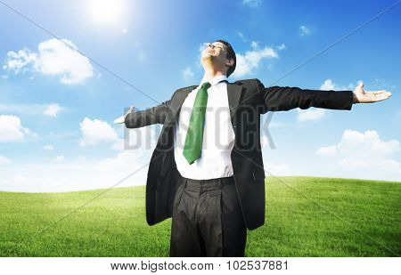 Businessman Freedom Relaxation Getaway Refreshment Concept