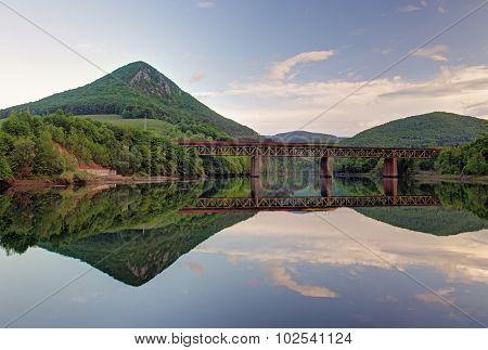 Lake With Forest Reflection, Ruzin Dam, Slovakia