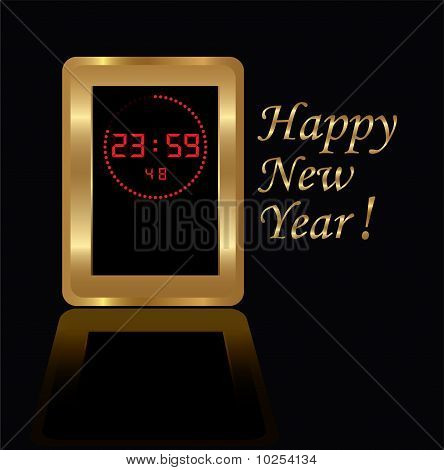 golden digital clock