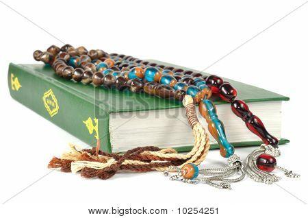 Muslim Rosary Beads And Quran