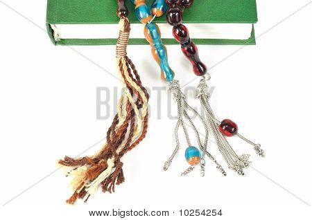 Muslim Rosary Beads And Quran