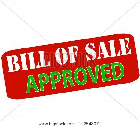 Bill Of Sale Approved