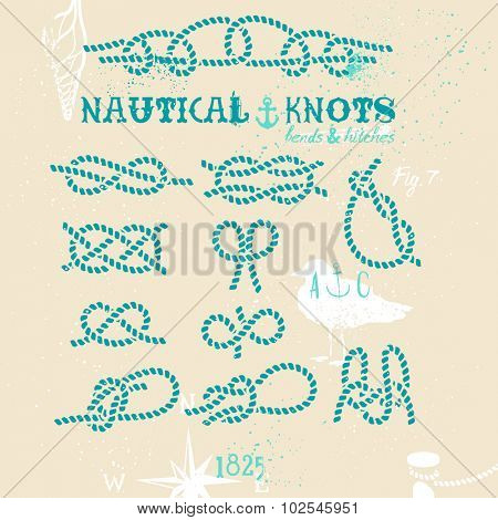 Nautical knots set
