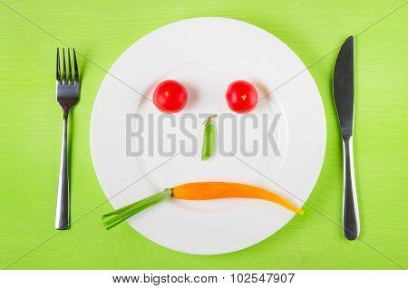 Sad Face Of Vegetables