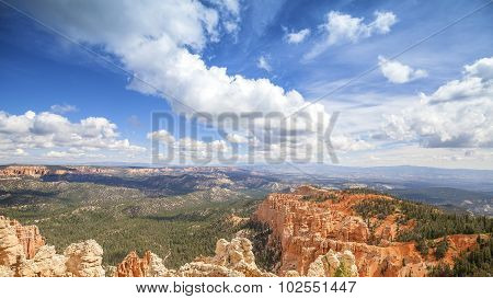 Beautiful Clouds Over Bryce Canyon National Park, Usa.