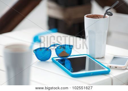 Digital Gadgets and hot coffee