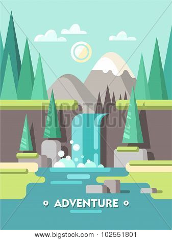 Summer landscape. Adventure.
