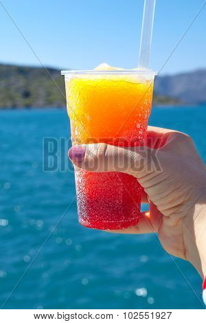 Frozen fruit drink