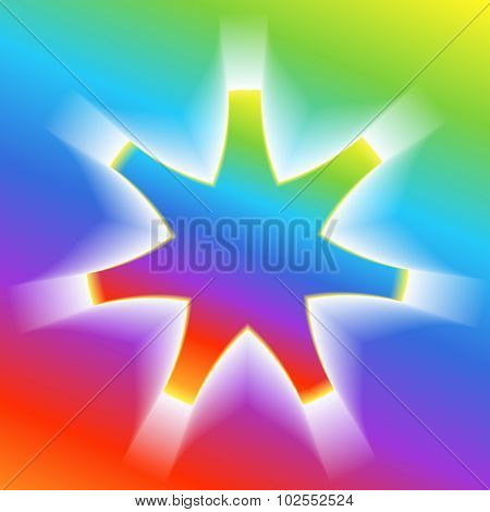 Star-effect-volume-rainbow-gradient-background