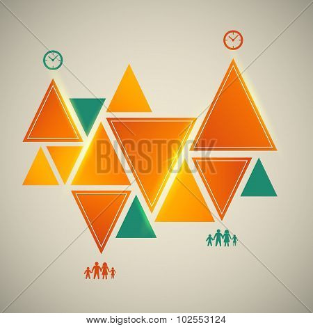 Vintage-background-triangle-infographics-design-element