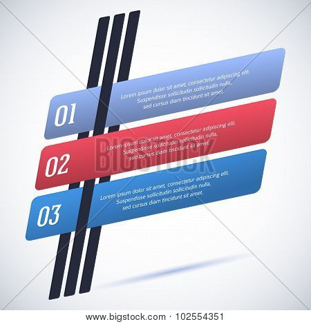 Infographics-template-pointer-flat-style-retro